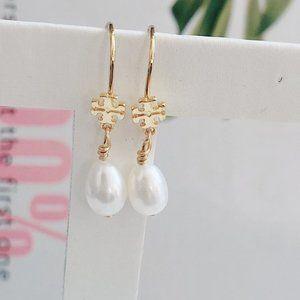 Tory Burch Classic Pearl Pendant Earrings